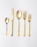 Stainless Steel Gold Cutlery Set of 10