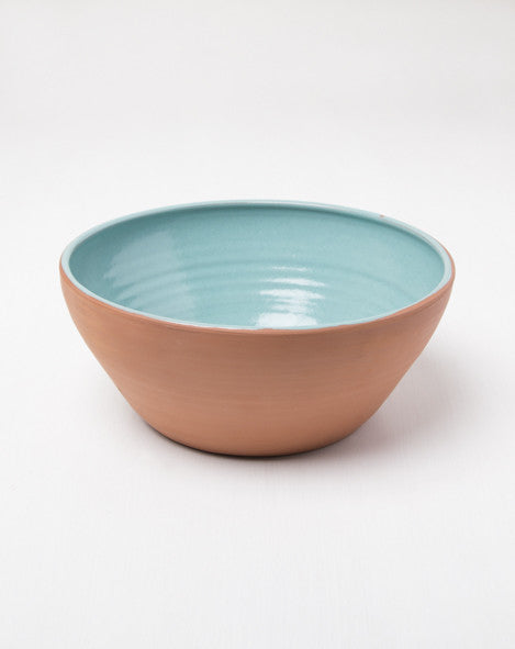 Two Tone Serving Bowl Turquoise