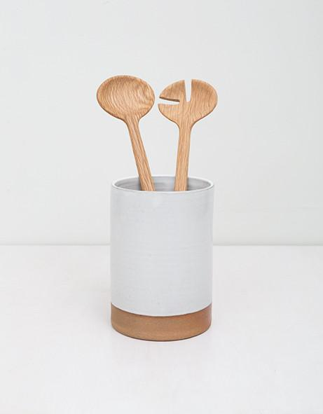 Two Tone Ceramic Utensil Holder Jenny & Ben