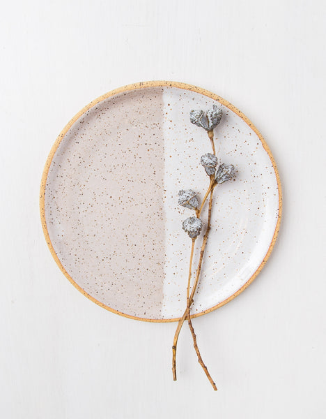 Two Tone Speckled Ceramic Plate