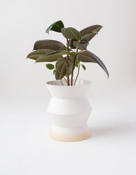 Two Tone Zigzag Planter