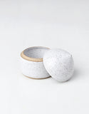 White Raw Speckled Salt Cellar