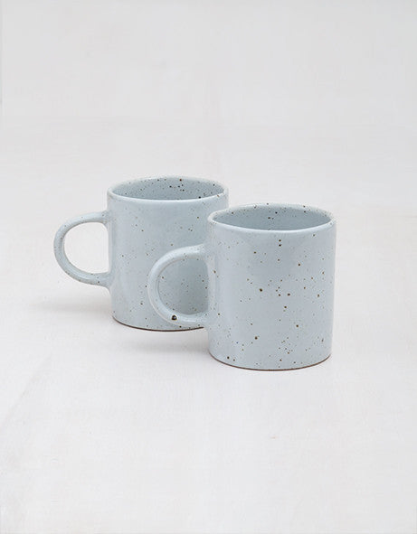 White Speckle Mugs