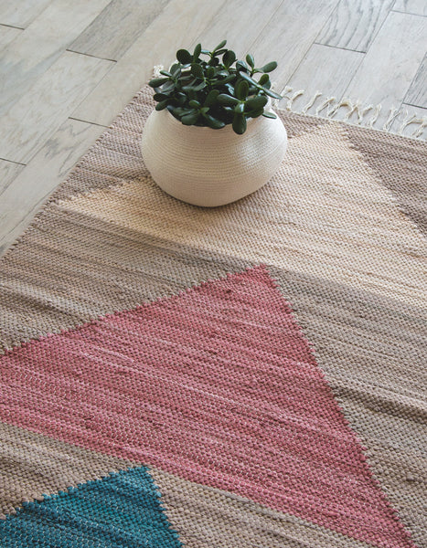 Yuma Teal Cotton Rug