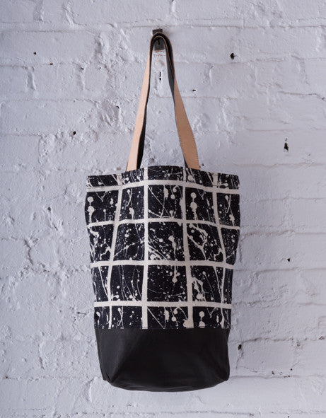 SPLATTER CANVAS & LEATHER TOTE