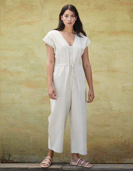 STRIPED JUMPSUIT COTTON JUMPSUIT