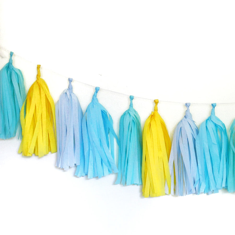 Tissue Paper Tassel Garland Kit - Poolside