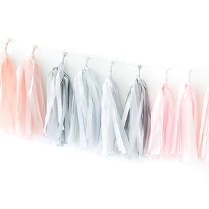 Tissue Paper Tassel Garland Kit - Pink Quartz