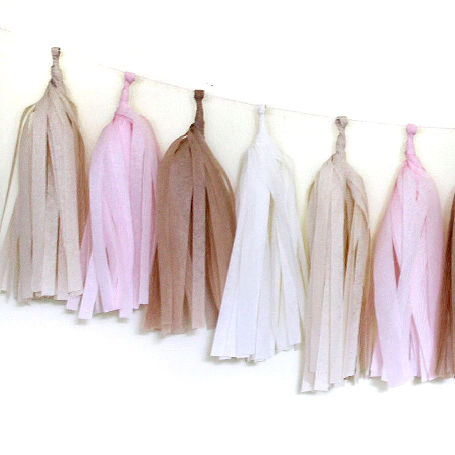 Tissue Paper Tassel Garland Kit - Blushing