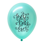 Best Day Ever (Mint Green) Hand Lettered Balloons