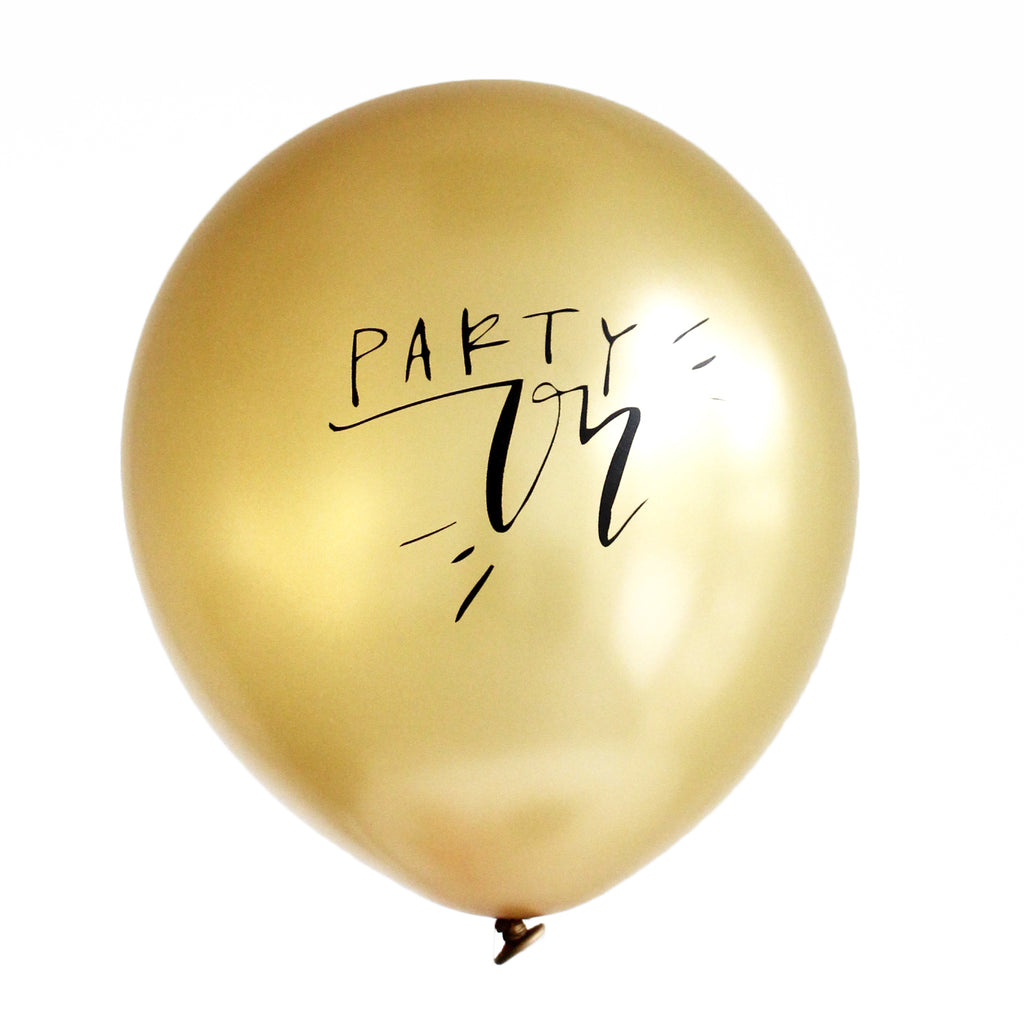 Calligraphy PARTY ON Balloons