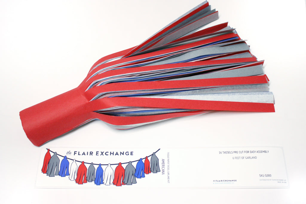Party Foul - Tissue Paper Tassel Garland Kit - Americana