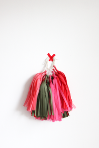 SALE - Tissue Paper Tassel Garland Kit - Poppy