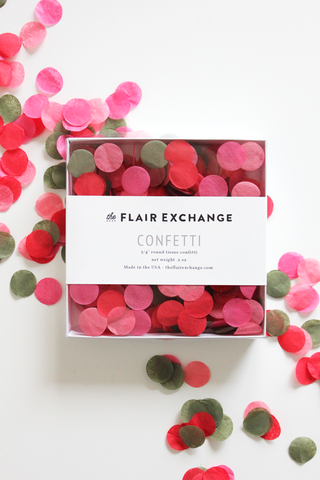 The Flair Exchange® - Handcut Confetti - Poppy