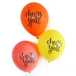 Cheers Y'all (Bright) - Hand Lettered Balloons