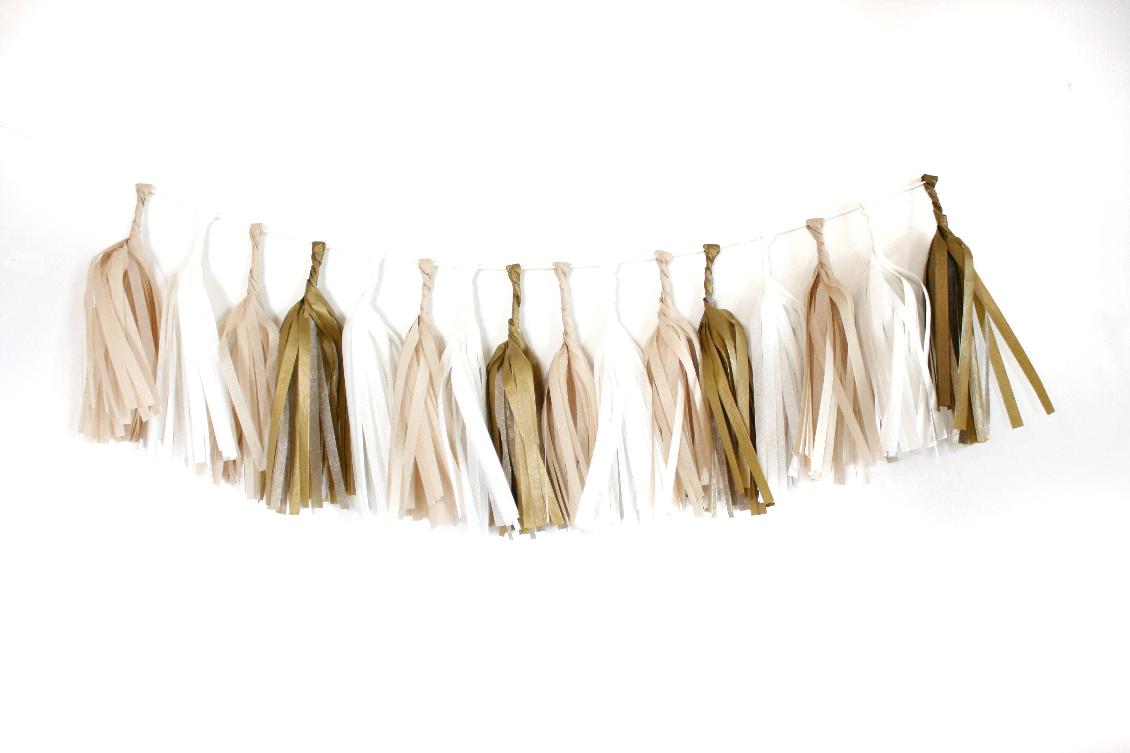 Tissue Paper Tassel Garland Kit - Golden