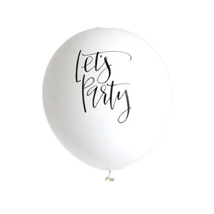 Calligraphy Let's Party Balloons