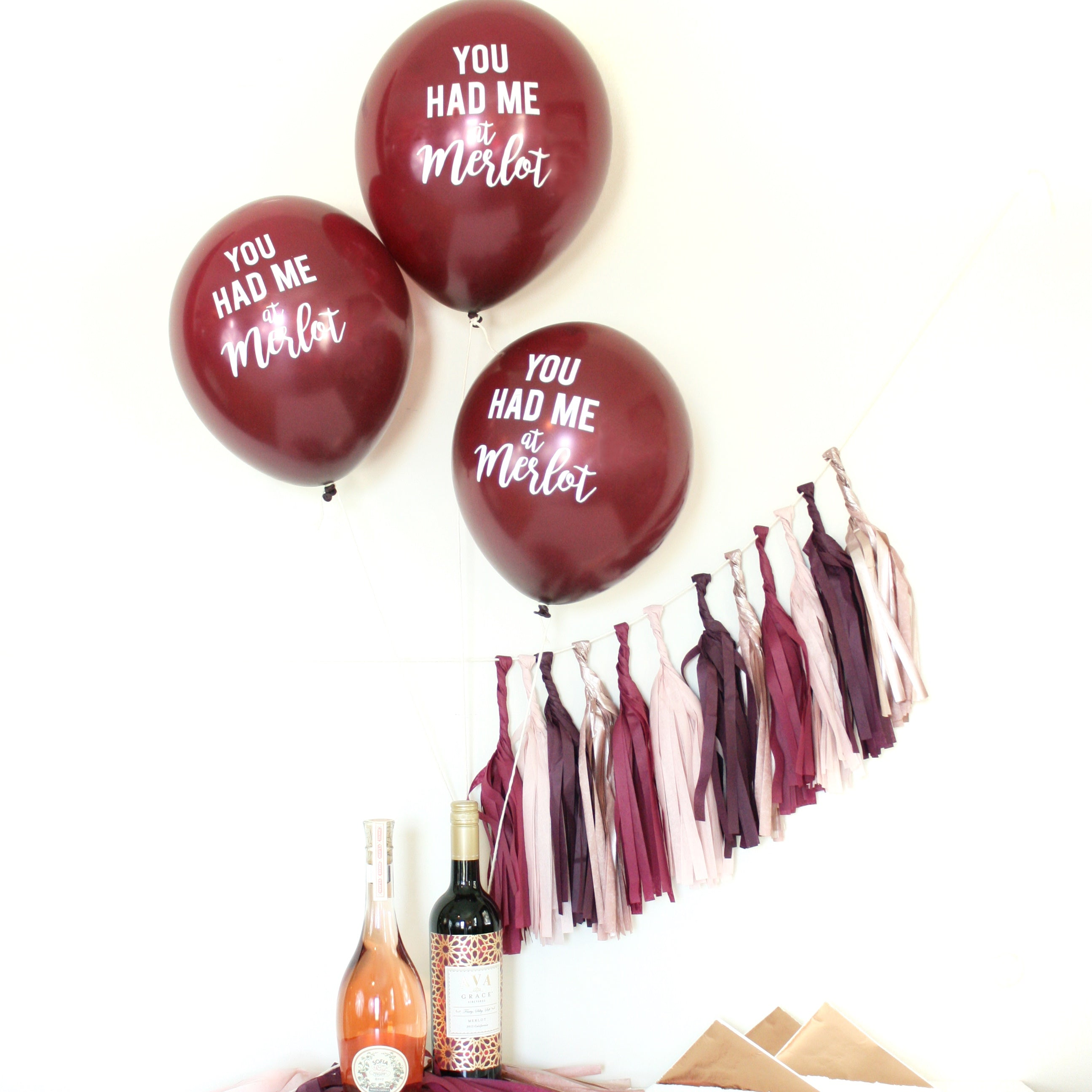 Party Foul - You Had Me at Merlot - Hand Lettered Balloons