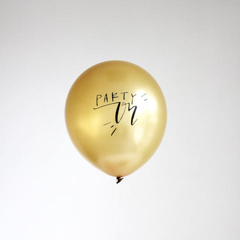 The Flair Exchange® - Calligraphy PARTY ON  balloons