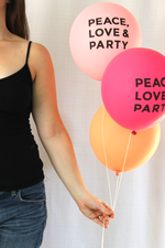 PEACE LOVE & PARTY balloons