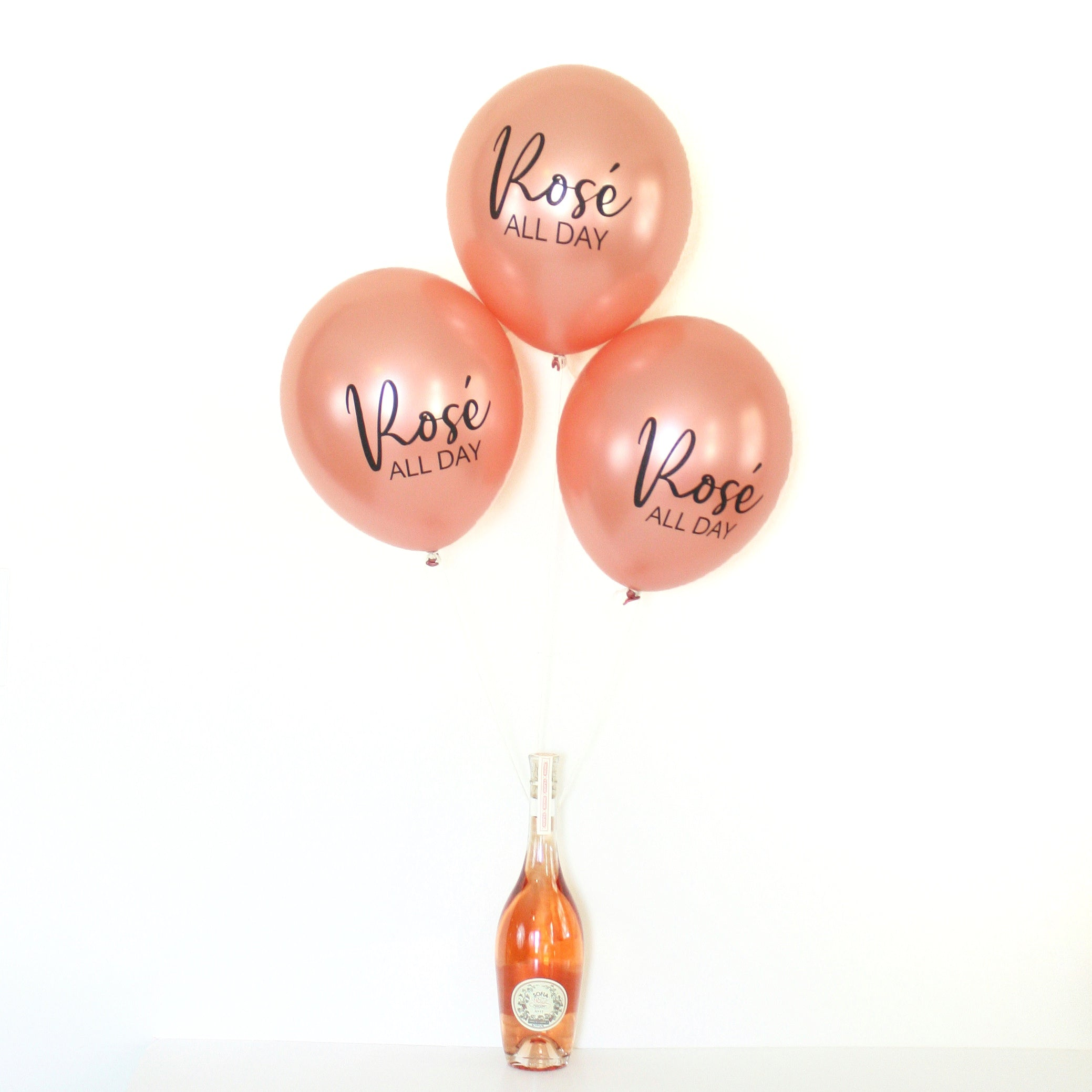 Rosé All Day - Hand Lettered Balloons