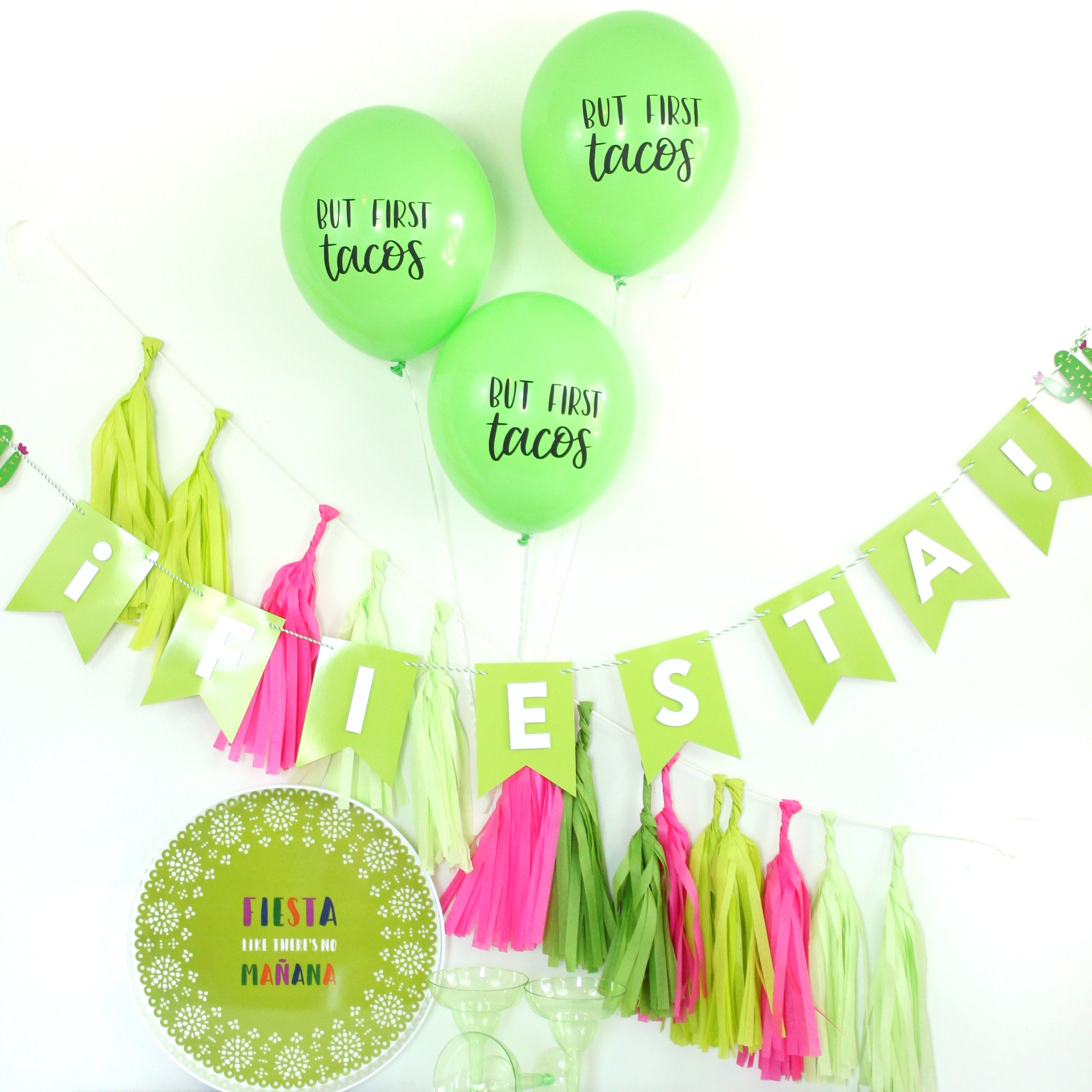 But First Tacos - Hand Lettered Balloons
