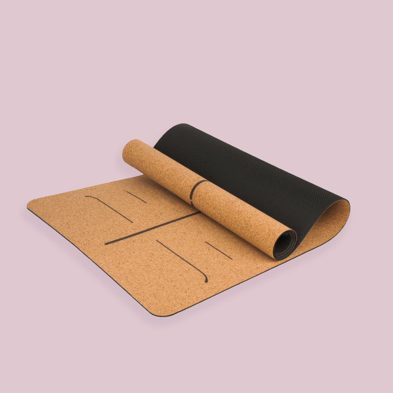 Eco-Friendly Cork Yoga Mat with TPE Bottom