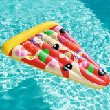 Bouée piscine pizza originale.