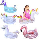 Rooxin Infant Float Swimming Circle Unicorn Flamingo Inflatable Pool Float Swimming Ring Baby Water Seat Summer Beach Party Toys