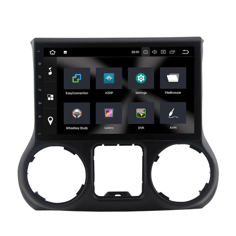 Image of For Jeep Wrangler III (JK) 4GB+32GB Android 9 10.1 Inch Touchscreen Radio Bluetooth GPS Navigation Head Unit Stereo - CARSOLL