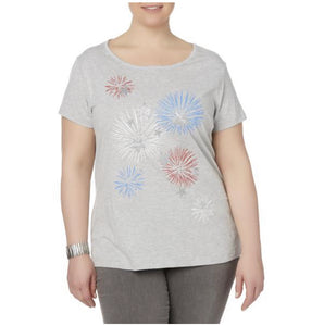 Laura Scott Women's Plus Graphic T-shirt - Fireworks