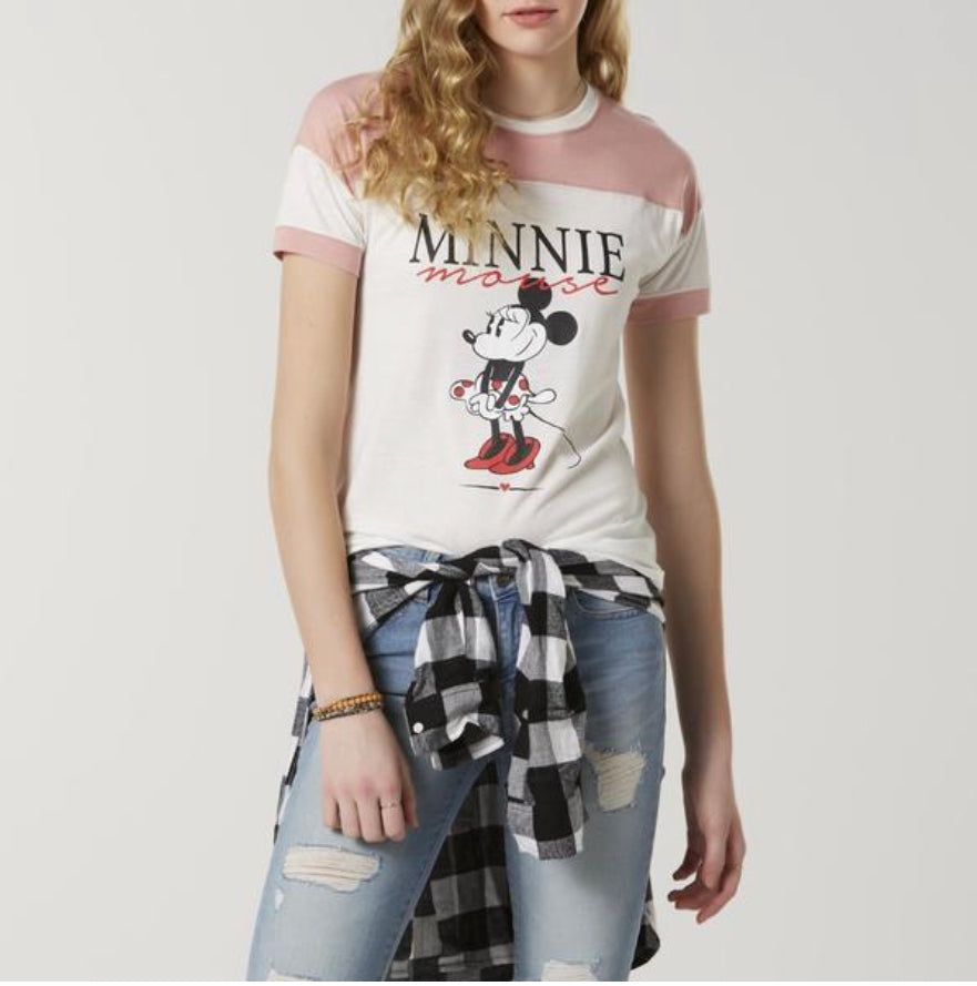 Minnie Mouse Juniors' Graphic T-Shirt
