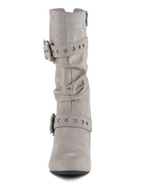 Piper Girls' Stella Knee Boot - Gray