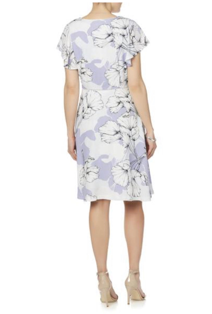 Simply Styled Women's Flutter Sleeve Dress - Floral