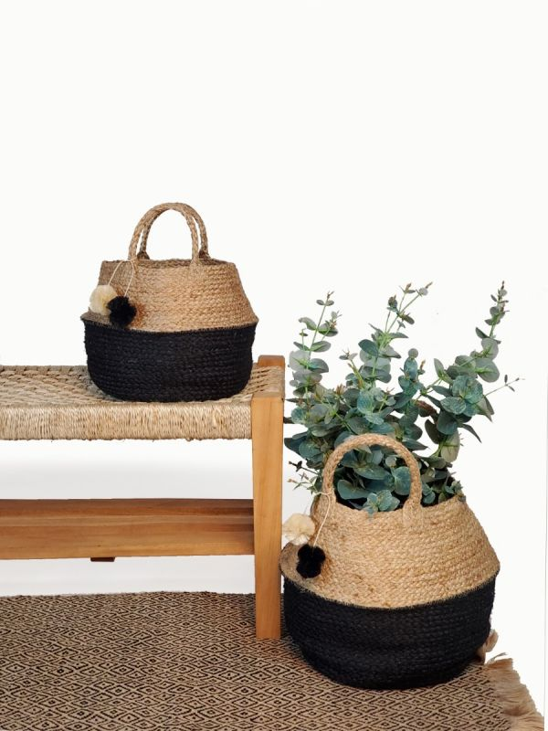 Haiya Foldable Basket Bag - Small - White Ivy Interiors