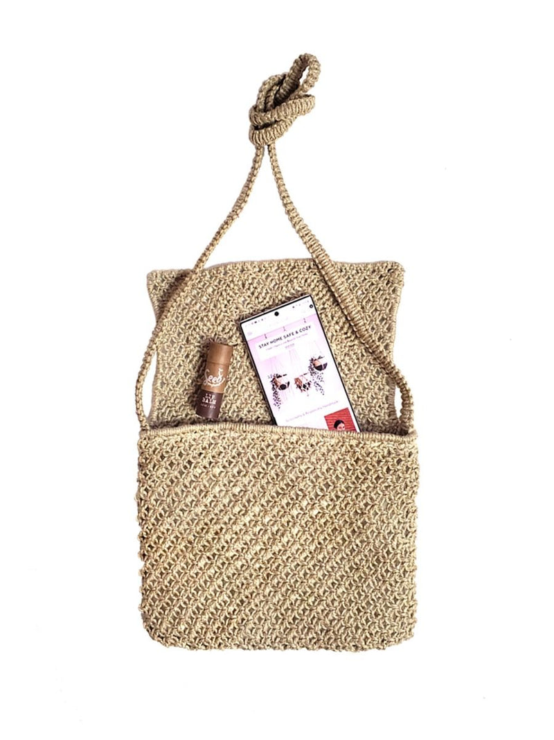 Bari Macrame Bag - White Ivy Interiors
