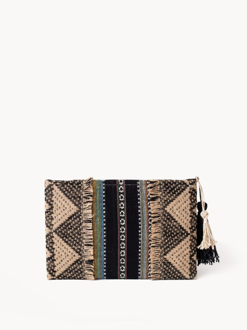 Asroy Clutch with Tassel - White Ivy Interiors