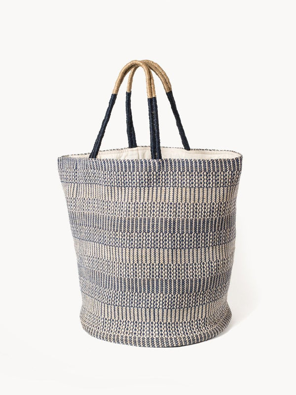Dobi Shoulder Tote - Blue - White Ivy Interiors