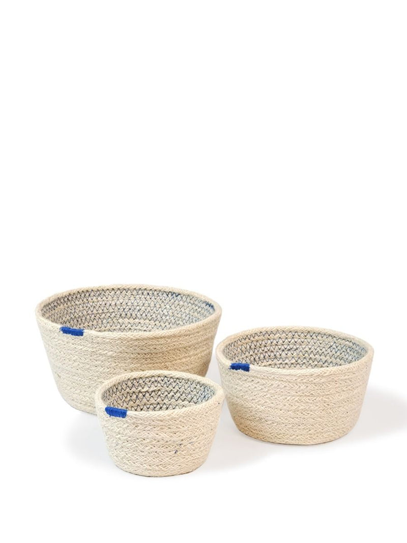 Amari Blue Bowl-set of 3 - White Ivy Interiors