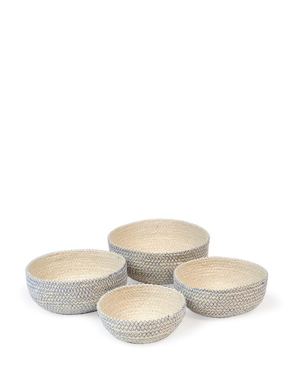 Amari Blue Round Bowl - Set of 4 - White Ivy Interiors