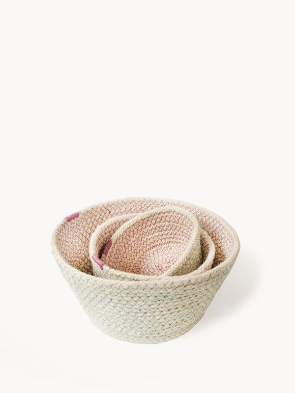 Amari Pink Bowl - Set of 3 - White Ivy Interiors