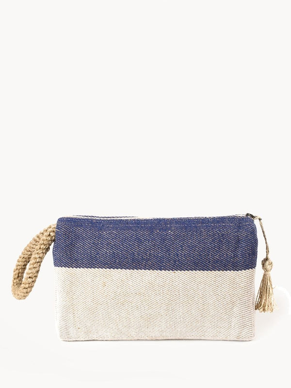 Block-a Clutch - Blue - White Ivy Interiors