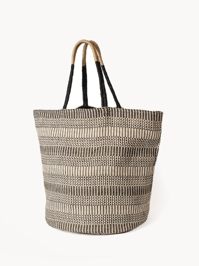 Dobi Shoulder Tote - Black - White Ivy Interiors