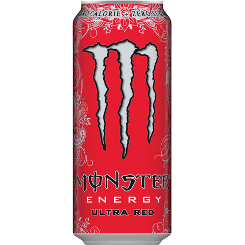 50cl Monster Energy Ultra Red van nachtwacht