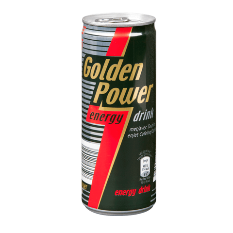 25cl Golden Power energiedrank van nachtwacht