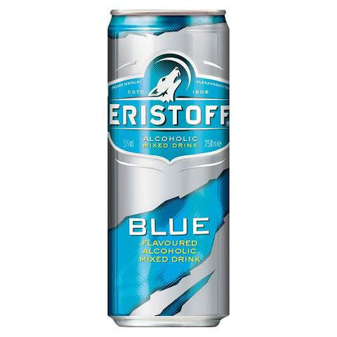33cl eristoff mix vodka blue van nachtwacht