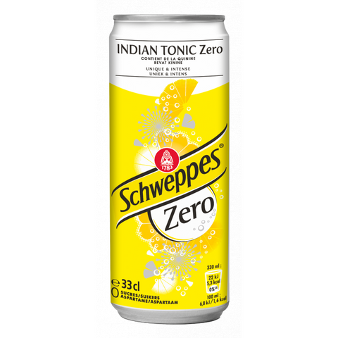 33cl schweppes indian tonic zero van nachtwacht