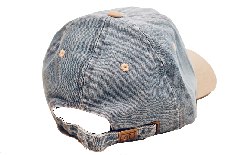 Backside view of The Blue Jean Dad Hat