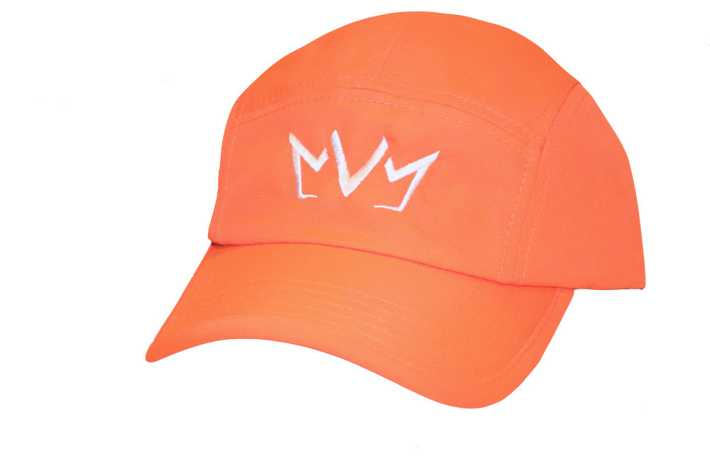 Frontside view of The Casual Runner Performance Cap in orange.