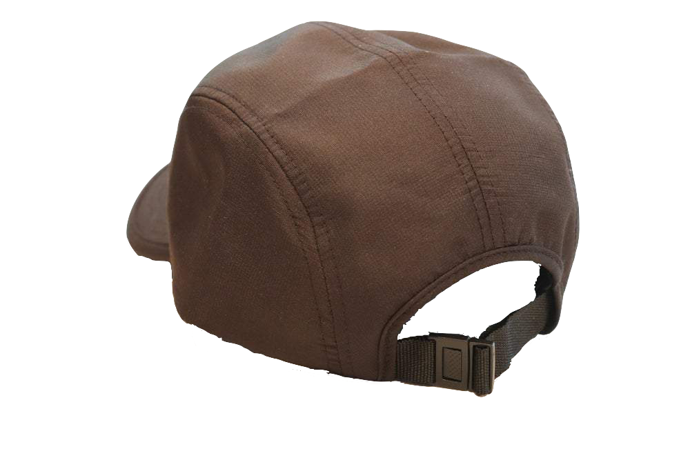 Backside view of The Casual Runner Performance Cap in black.